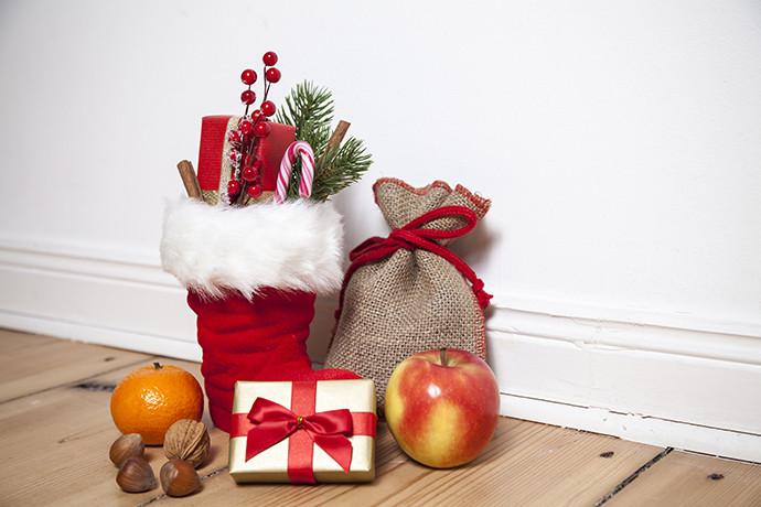 Geschenke Zu Nikolaus  Vegan gefüllte Stiefel am Nikolaustag
