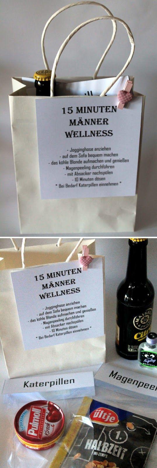 Geschenke Zum 15 Geburtstag  DIY 15 Minuten Männer Wellness perfekte Geschenkidee