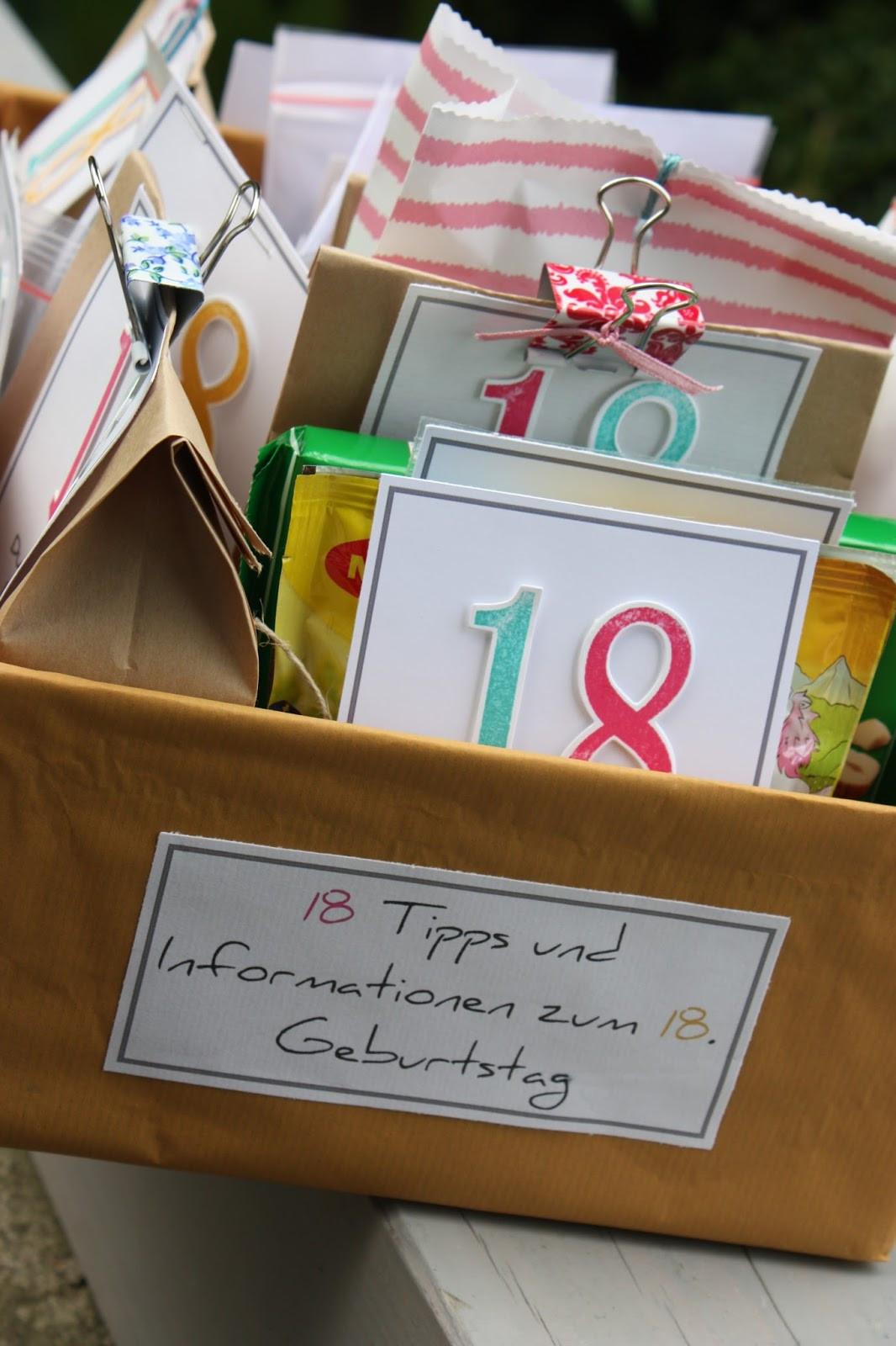 Geschenke Zum 18.  Polly kreativ Süße 18