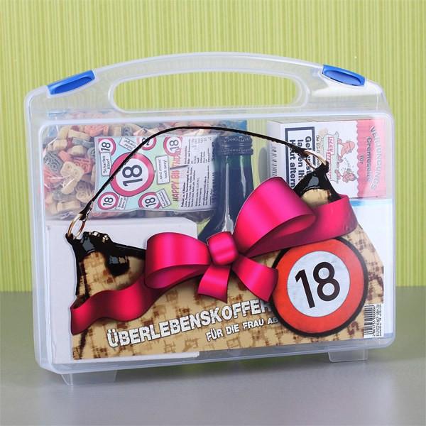 Geschenke Zum 18. Geburtstag Sohn  Überlebenskoffer für Frau ab 18