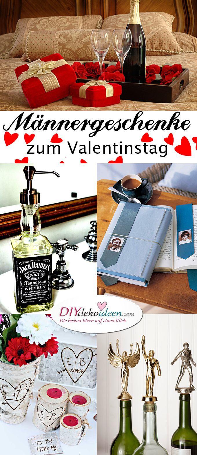 Geschenke Zum 30 Männer  Männergeschenke zum Valentinstag DIY Bastelideen