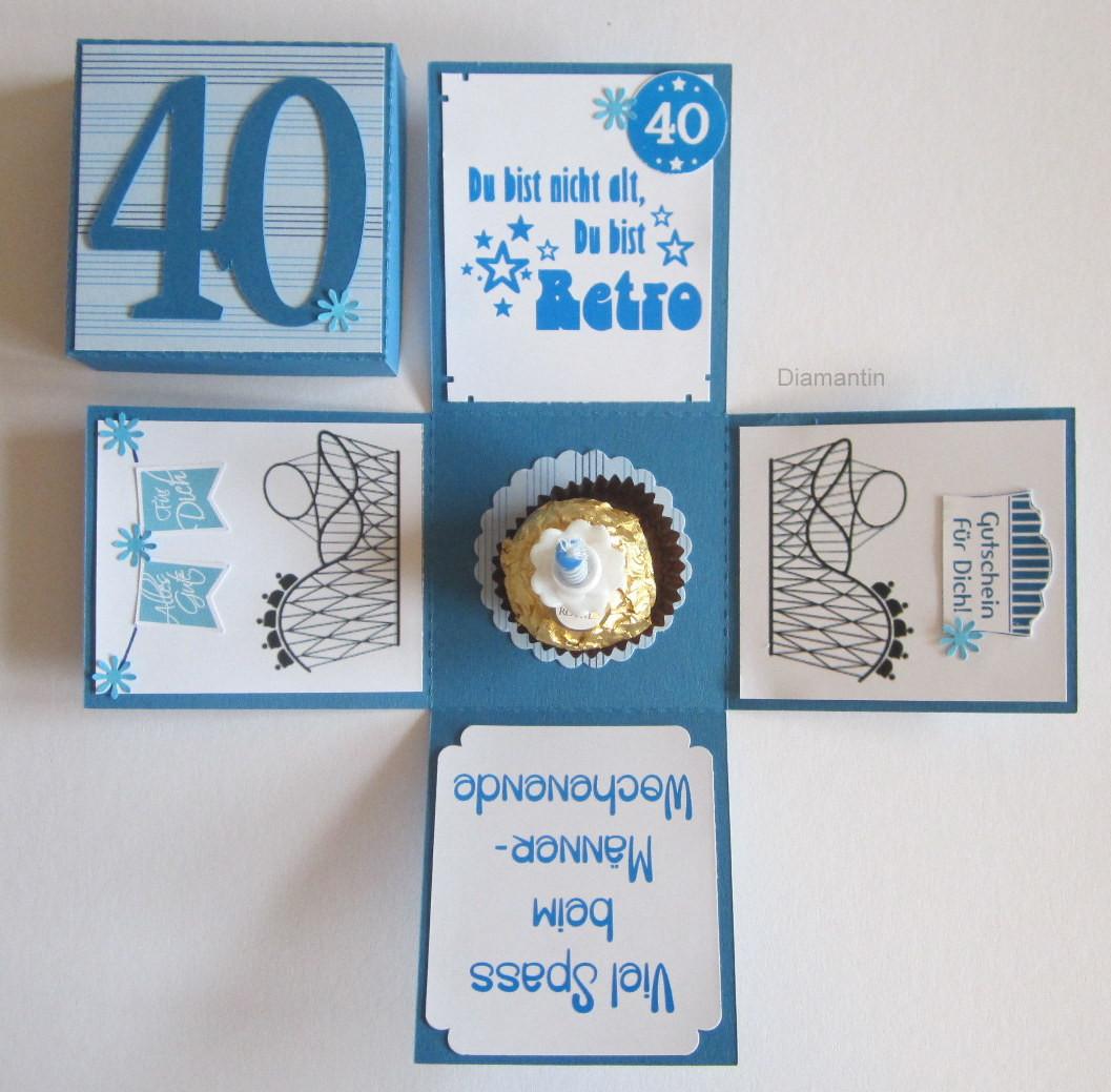 Geschenke Zum 40 Mann  Diamantin´s Hobbywelt Geburtstagsset zum 40 Geburtstag