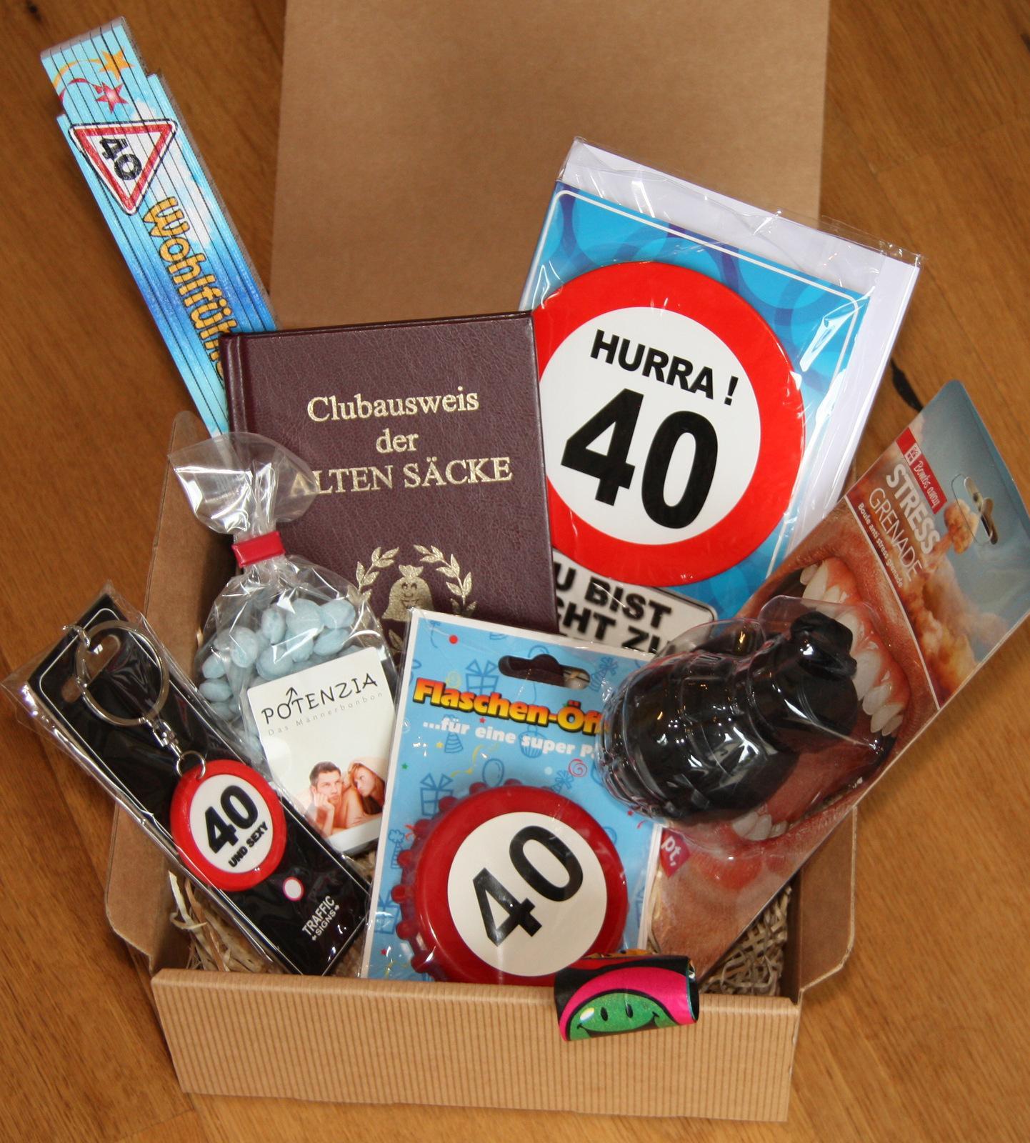 Geschenke Zum 40 Mann  Einladungskarten 40 Geburtstag Selber Basteln