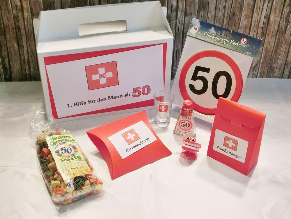 Geschenke Zum 50. Geburtstag Mann  Geldgeschenk Geschenk lustiges Erste Hilfe Set für Männer