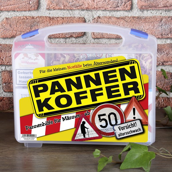 Geschenke Zum 50 Geburtstag Männer  Pannenkoffer für den Mann ab 50