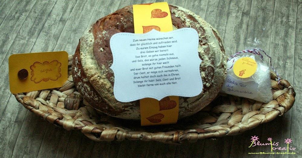 Geschenke Zum Einzug Ins Haus  Blumis kreativ Blog Brot und Salz zum Einzug ins neue Heim