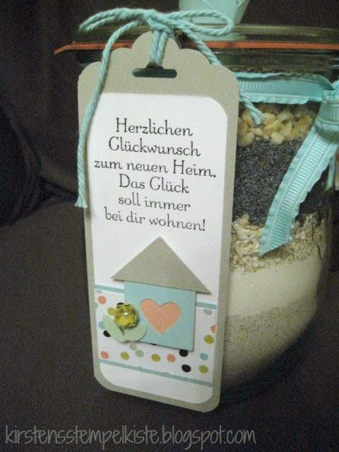 Geschenke Zum Einzug Ins Haus  Kirsten Stempelkiste Brot im Glas zum Einzug