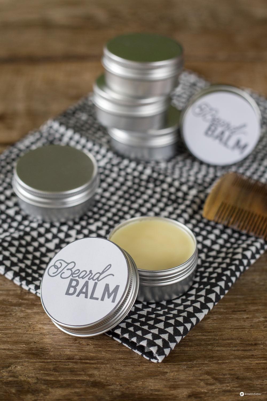 Geschenke Zum Selber Machen  DIY Beard Balm Bart Balsam selbermachen kreativfieber
