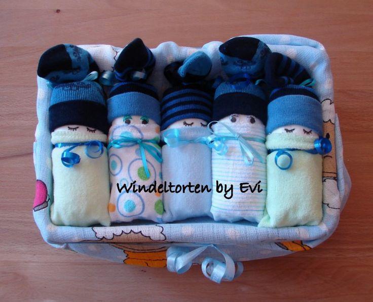 Geschenke Zur Geburt Junge  Windelbabys in der Box Junge Baby Geschenk Geburt Taufe