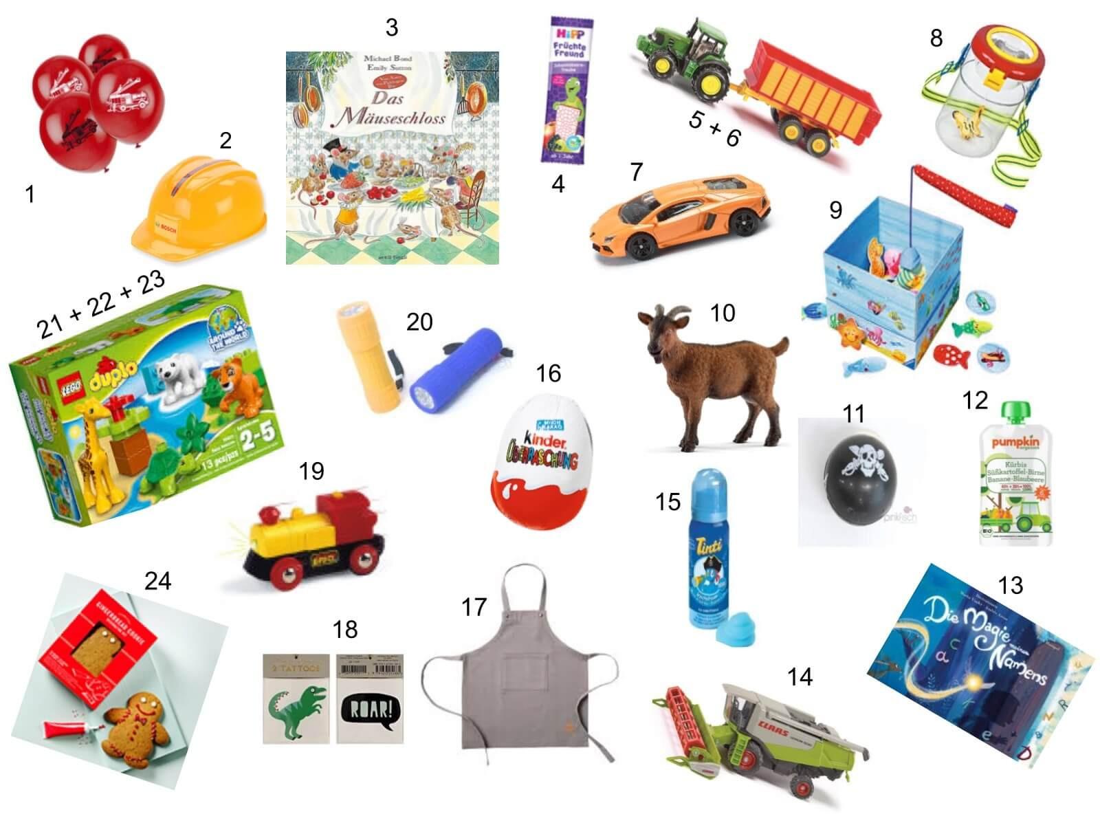 Geschenkideen 3 Jährige  DIY Adventskalender mit 24 Geschenkideen für Kleinkinder