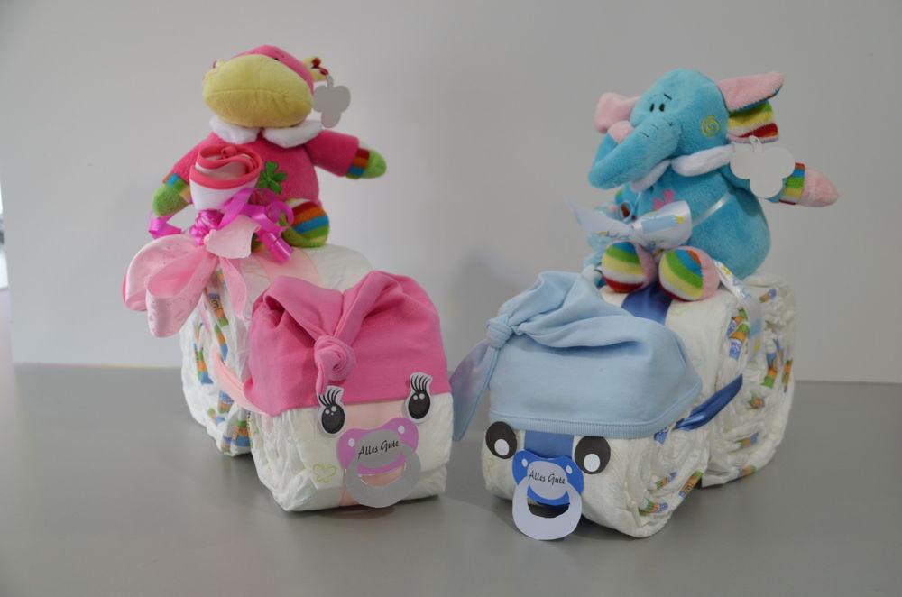 Geschenkideen Babyparty  Windeltorte Windel Geschenk zur Geburt zum Baby Taufe