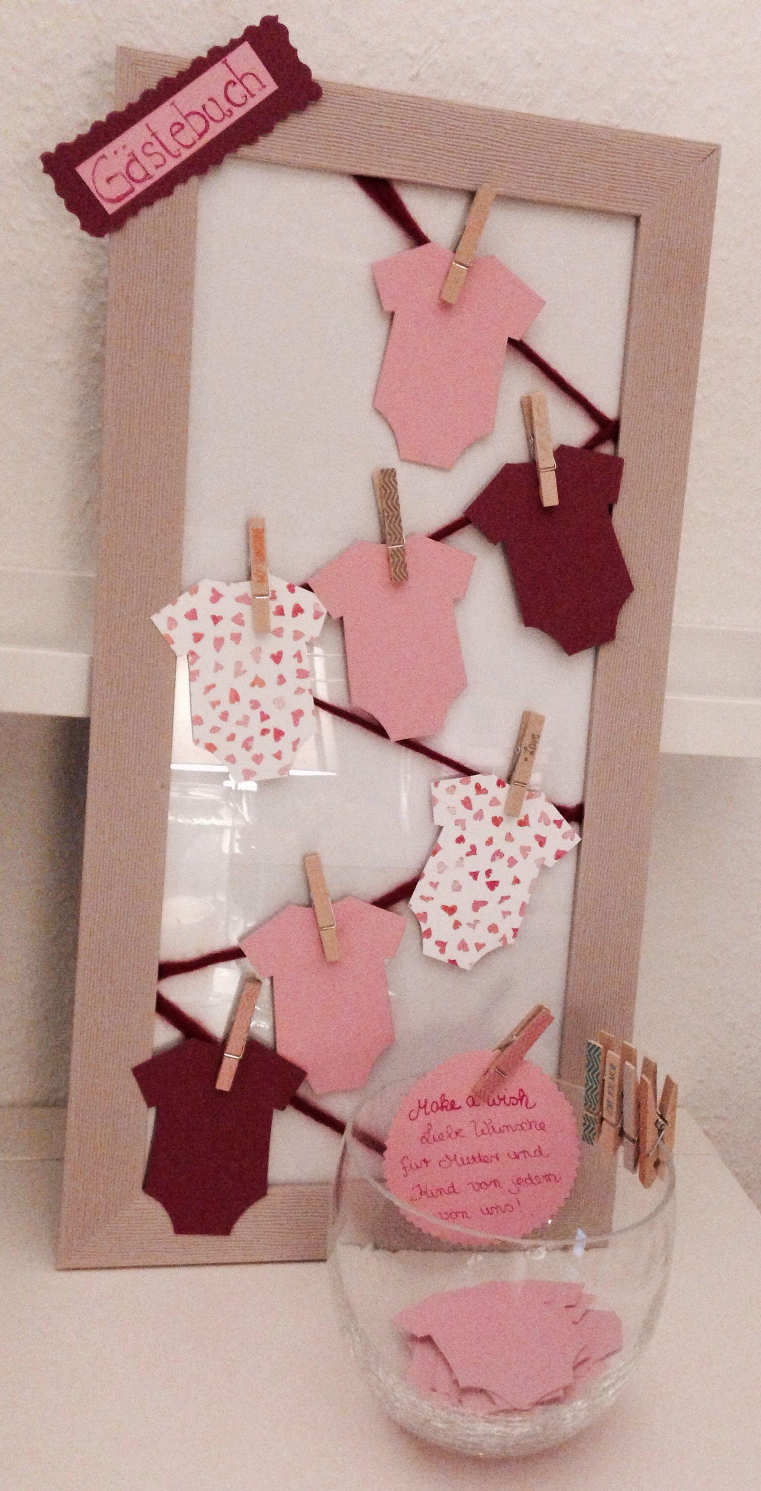 Geschenkideen Babyparty  Gästebuch Baby Party für Lena Pinterest