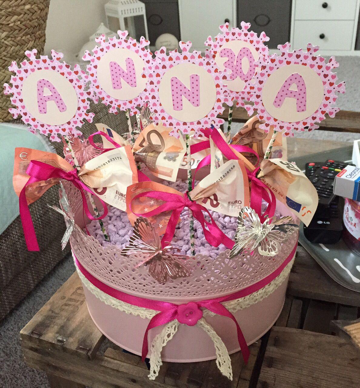 Geschenkideen Frauen 30  Geldgeschenk zum 30 Geburtstag geburtstagsgeschenk