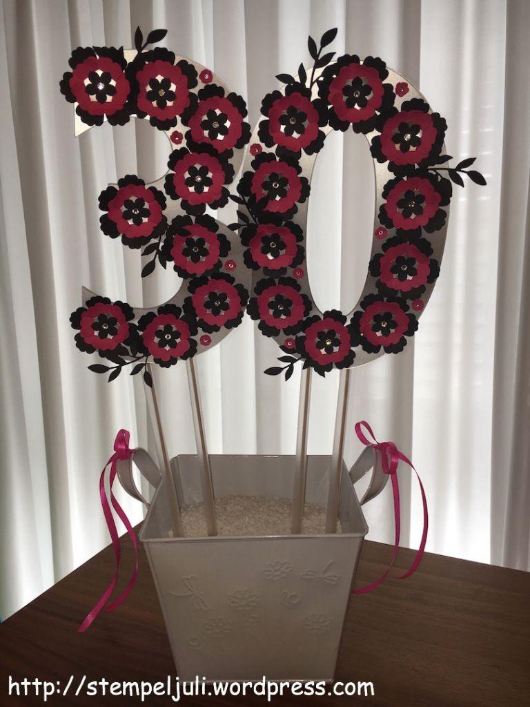 Geschenkideen Frauen 30  Geldgeschenk 30 Geburtstag Stampin Up Blumen Glitzer Frau