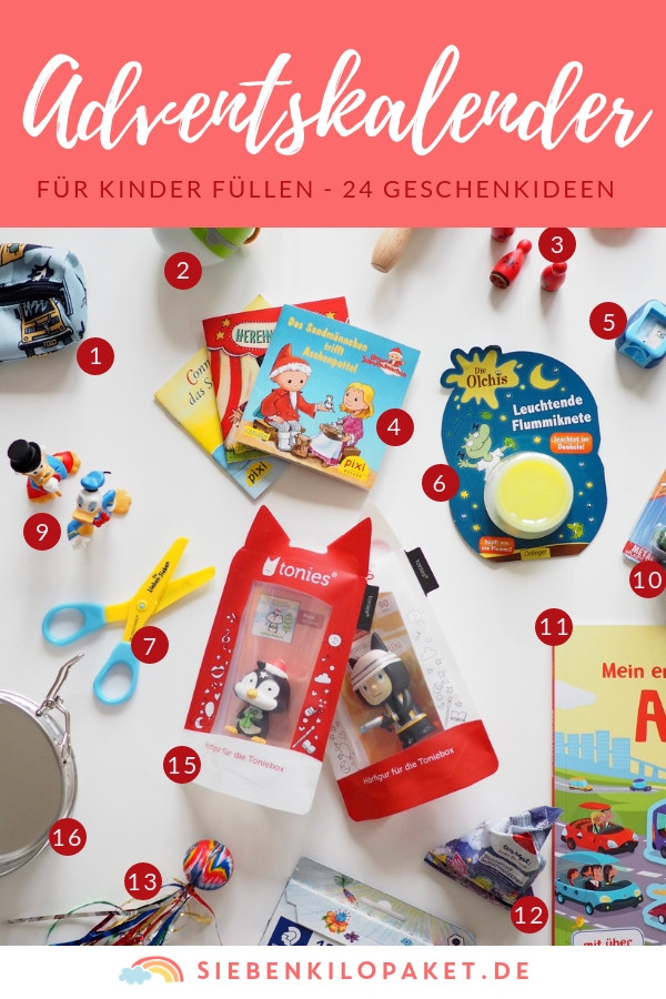 Geschenkideen Für 4 Jährige  Adventskalender für Kinder füllen 24 Geschenkideen für 4