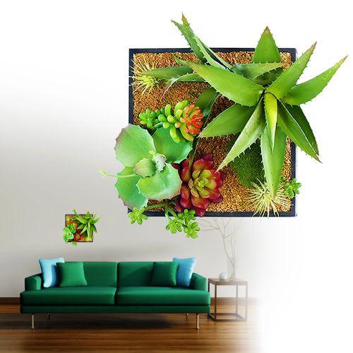 Geschenkideen Garten  Vertikaler Garten für Wand mit Deko Pflanzen auf Sand