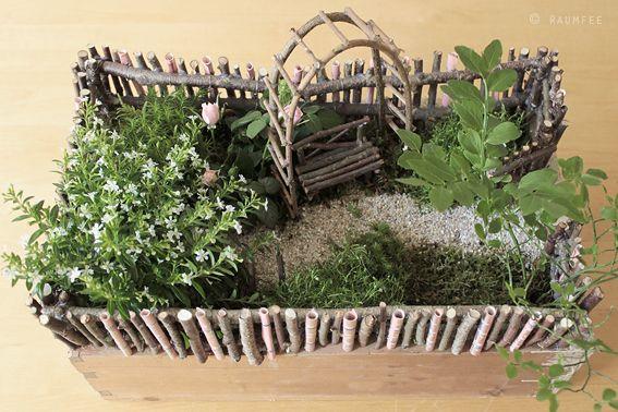 Geschenkideen Garten  Die Raumfee Geldgeschenk als Minigarten verpackt