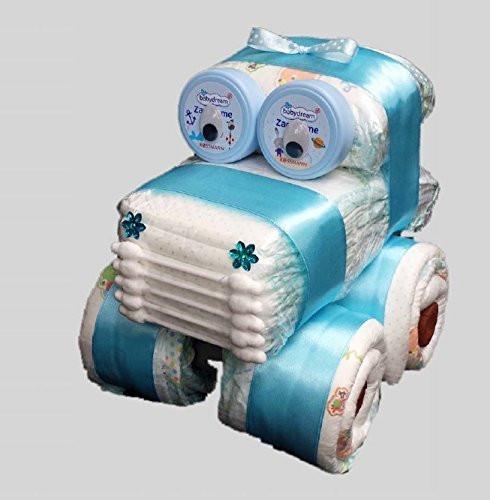 Geschenkideen Taufe Junge  Windel Auto Windelauto Windeltorte Pampers Gr 3 Baby