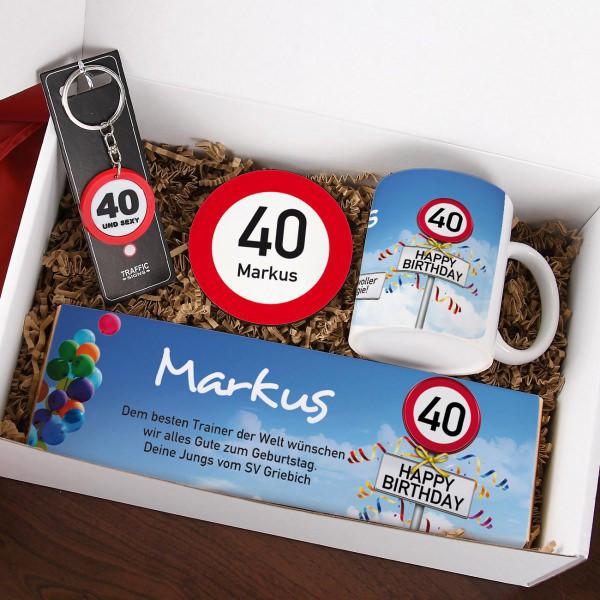 Geschenkideen Zum 40 Geburtstag  Geschenkbox