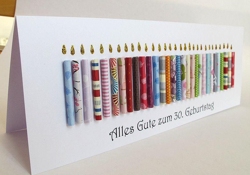 Geschenkideen Zum 40 Geburtstag  Riesige Geburtstagskarte 30 Geburtstag Kerzen runder