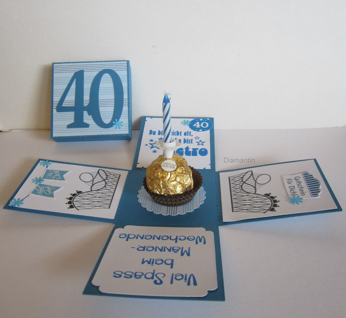 Geschenkideen Zum 40 Geburtstag  Diamantin´s Hobbywelt Geburtstagsset zum 40 Geburtstag