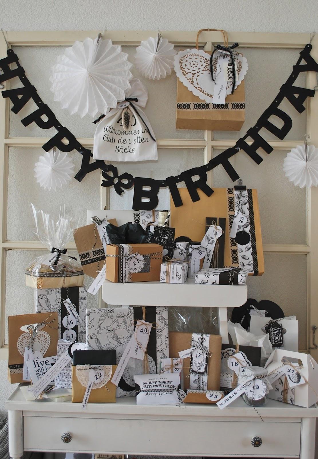 Geschenkideen Zum 40 Geburtstag  mamas kram 40 zum 40sten