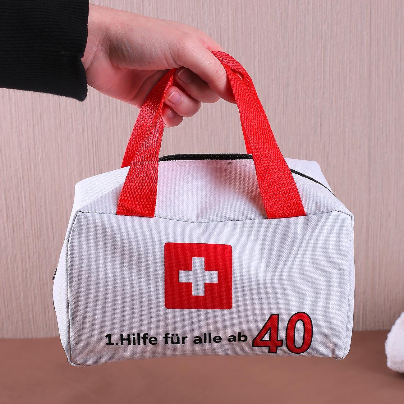 Geschenkideen Zum 40 Geburtstag  kleiner Notfallkoffer zum 40 Geburtstag
