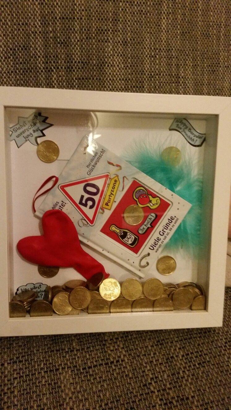 Geschenkideen Zum 50 Geburtstag Mann  Zum 50 Geburtstag 50 x 50 Centstücke