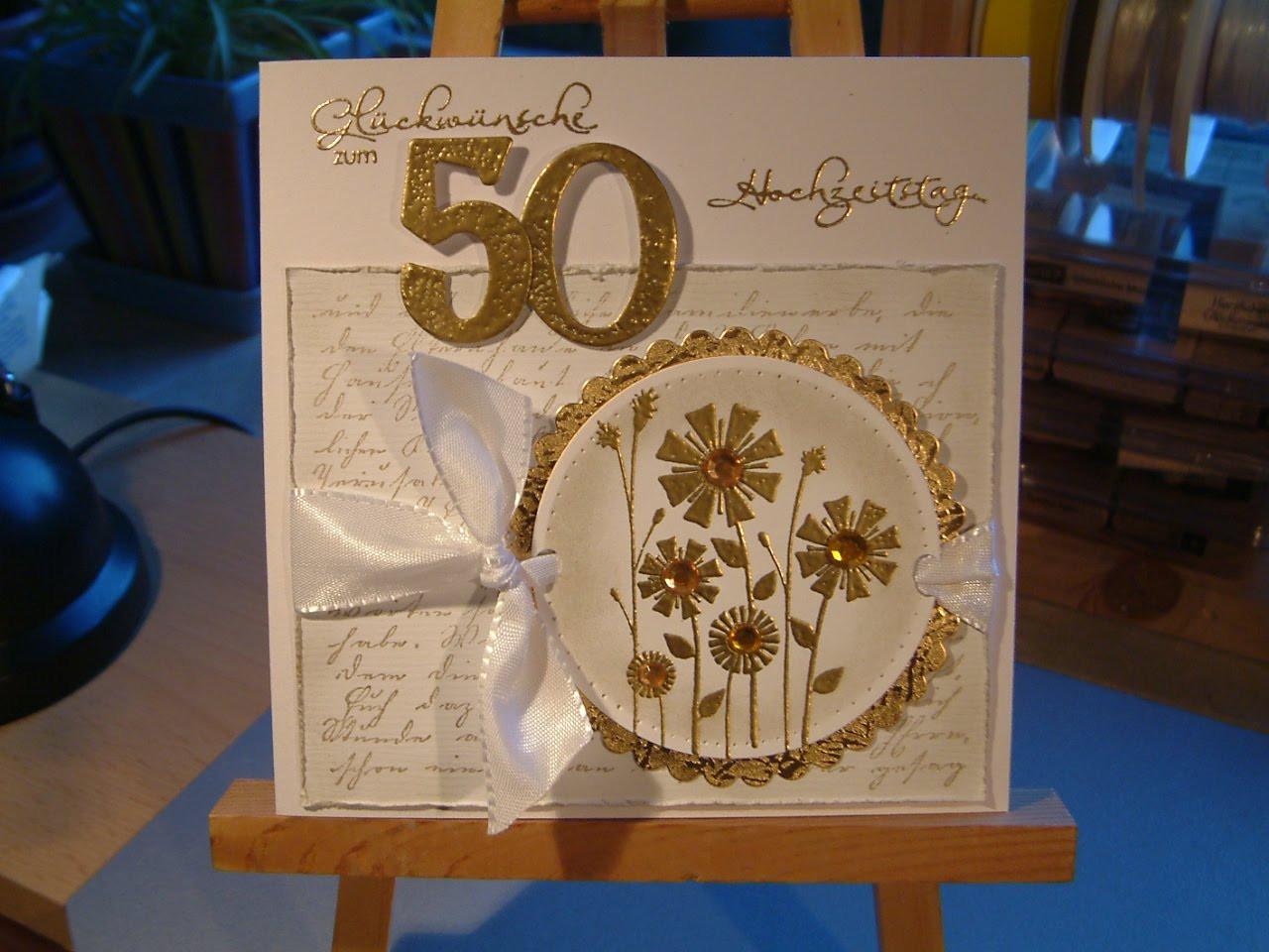 Geschenkideen Zur Goldenen Hochzeit  Basteln Goldene Hochzeit