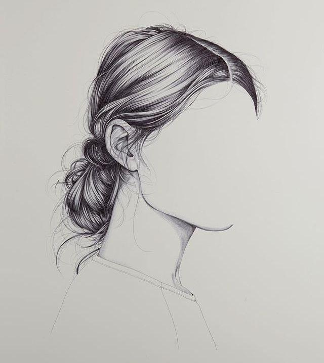 Gezeichnete Frisuren  Pin von Natalie auf Art Inspiration Pinterest