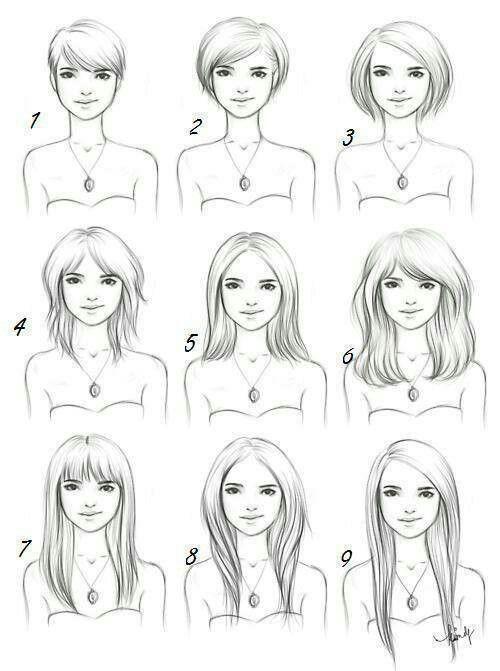 Gezeichnete Frisuren  Gezeichnete Frisuren Zeichnen Pinterest
