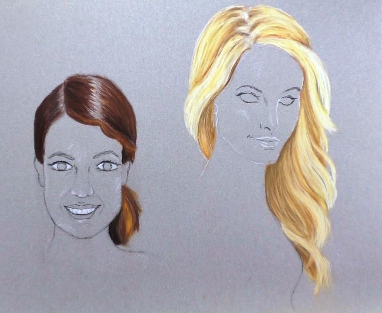 Gezeichnete Frisuren  Haare zeichnen 9 tolle Tipps zum Nachmachen Mal einfach mit