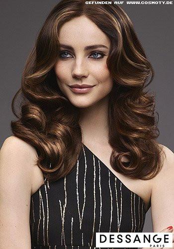 Gi Haarschnitt  Frisuren Bilder Großzügige Glamour Wellen mit glänzenden