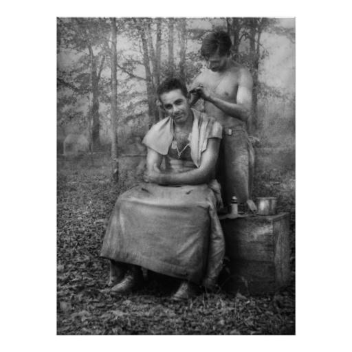 Gi Haarschnitt  Friseur WWII GI Haarschnitt Plakatdrucke