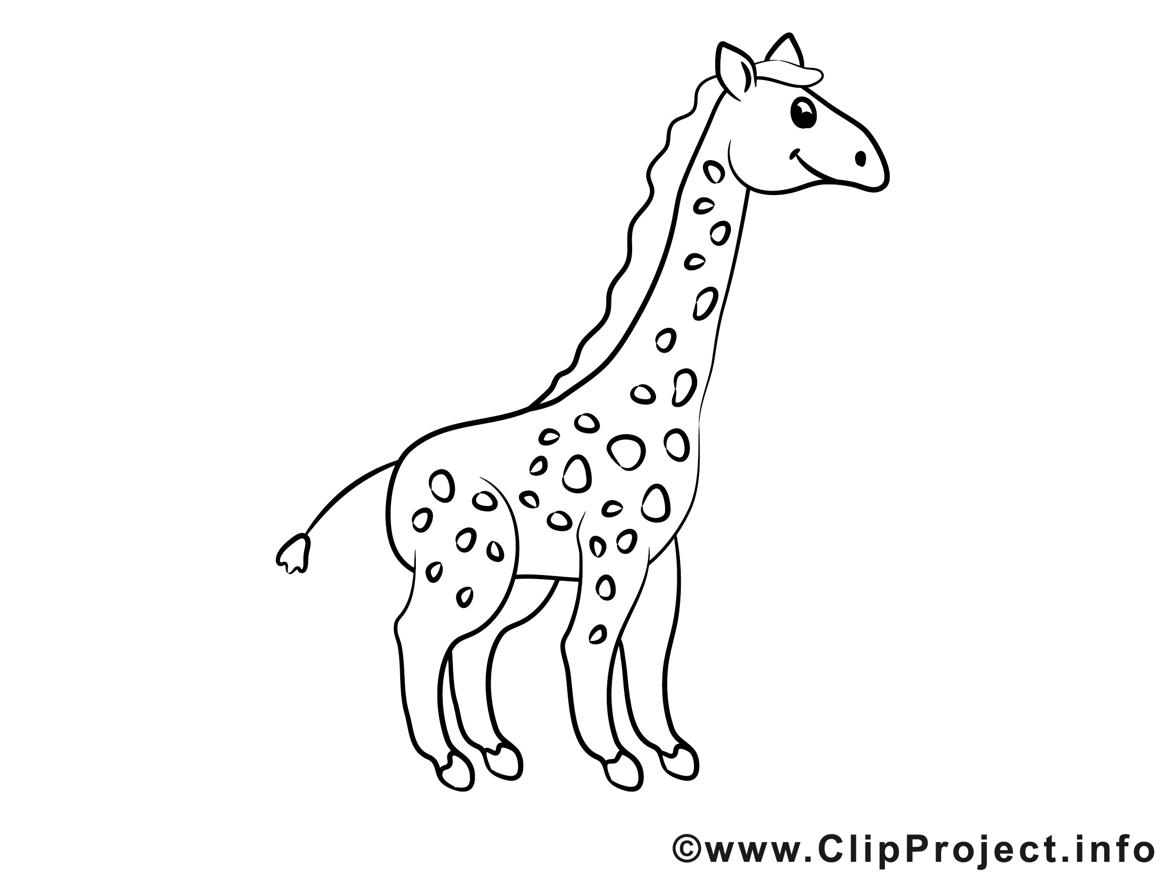Giraffe Comic Malvorlagen  Giraffe Malvorlagen Kostenlos Zum Ausdrucken