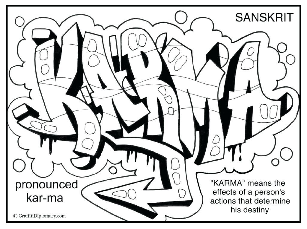 die besten ideen für graffiti ausmalbilder namen  beste