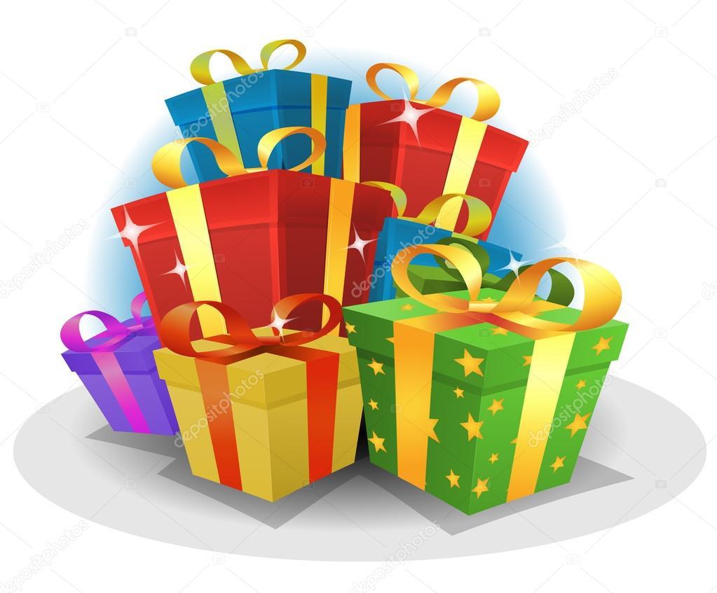 Gratis Geschenke  Feliz cumpleaños regalos Pack — Archivo Imágenes