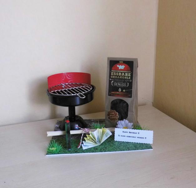 Grill Geschenke  Geschenke für Männer Geldgeschenk Grill Aschenbecher