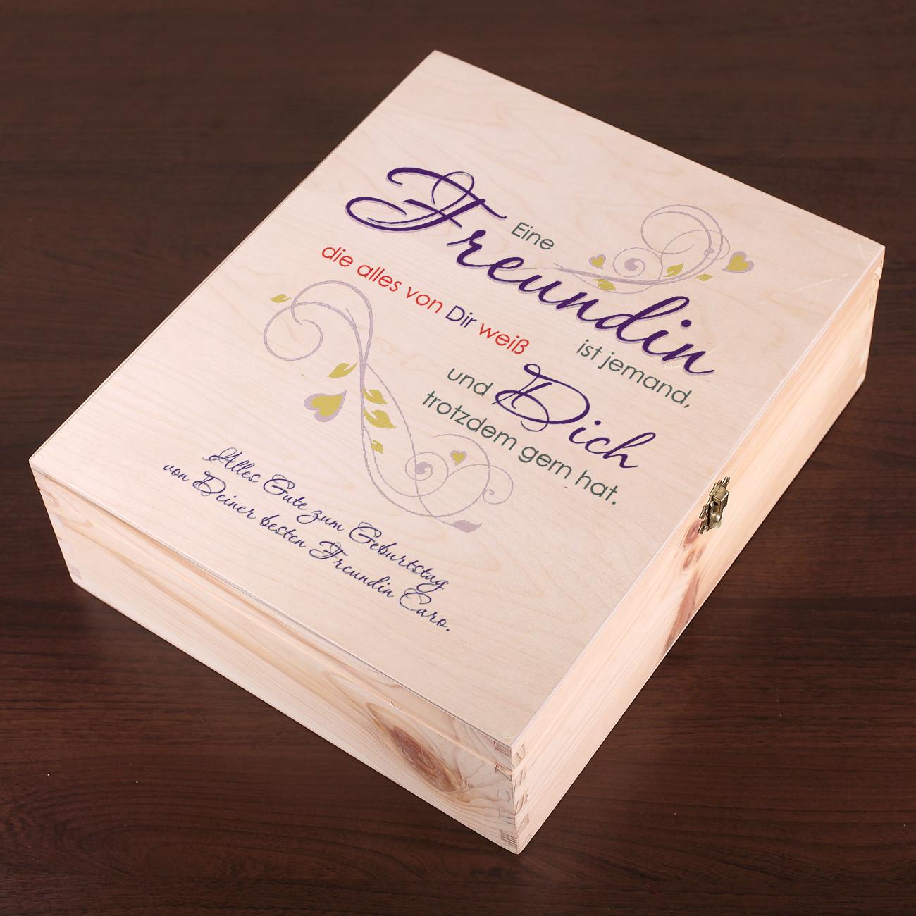 Gute Geburtstagsgeschenke Für Freundin  Geschenkverpackung aus Holz für beste Freundin