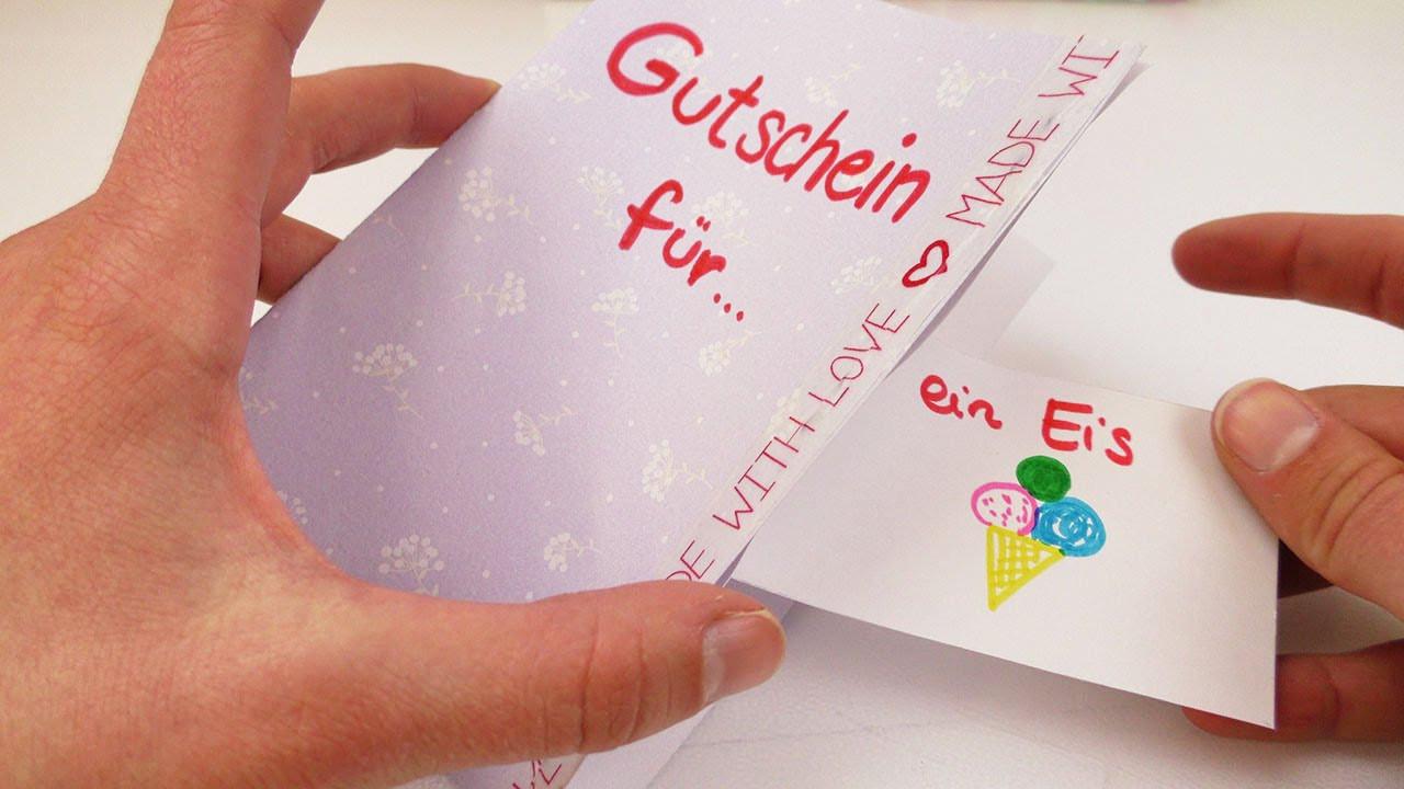 Gutschein Diy  DIY Gutschein Tolle Geschenk Idee