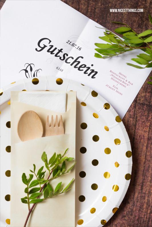 Gutschein Diy  Restaurant Gutschein verpacken kreative DIY