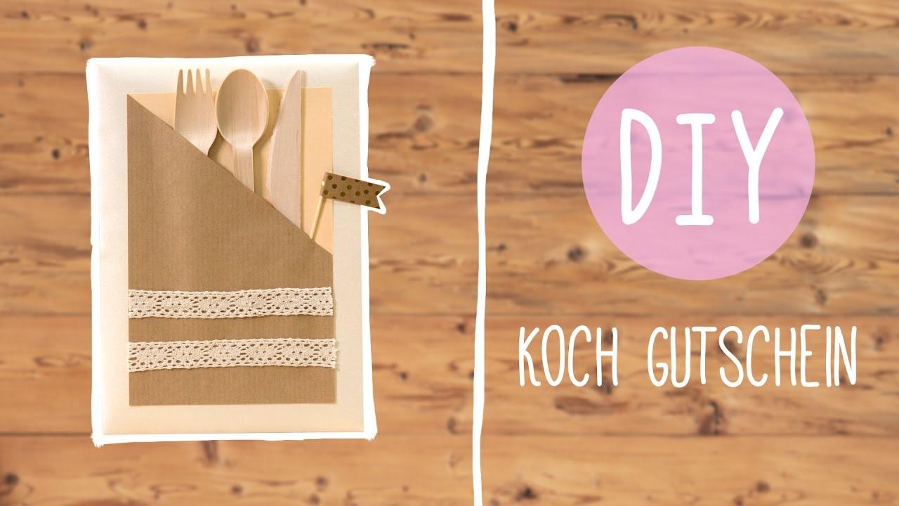Gutschein Diy  Einladung zum Essen – DIY Koch Gutschein
