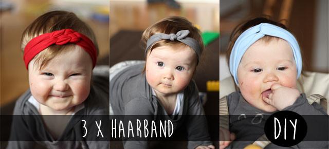 Haarband Diy  3 x Haarband DIY Kindertage