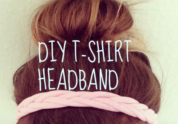 Haarband Diy  DIY haarband met een T shirt Fashionblog Proud2bme