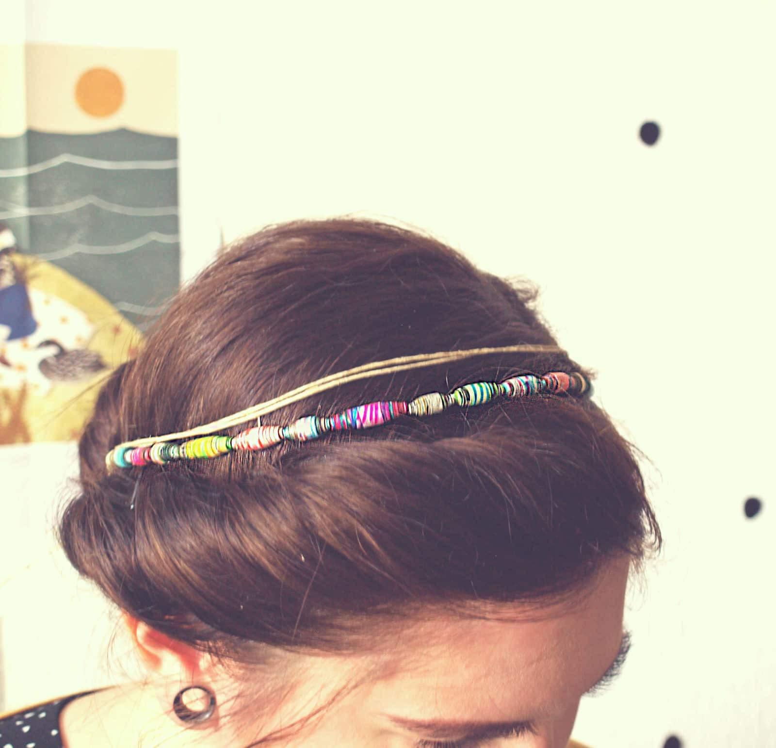 Haarband Diy  diy papierperlen haarband