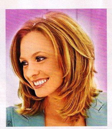 Haarschnitt Schulterlang Stufig  Frisuren mittellang stufig bilder Frisuren