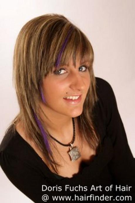 Haarschnitt Stufen  Frisuren mit stufen mittellang