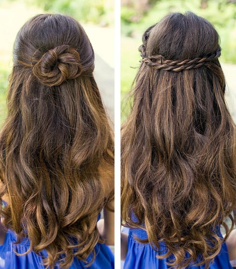 Halboffene Frisuren  55 einfache Ideen für Sommer Frisuren zum Nachmachen