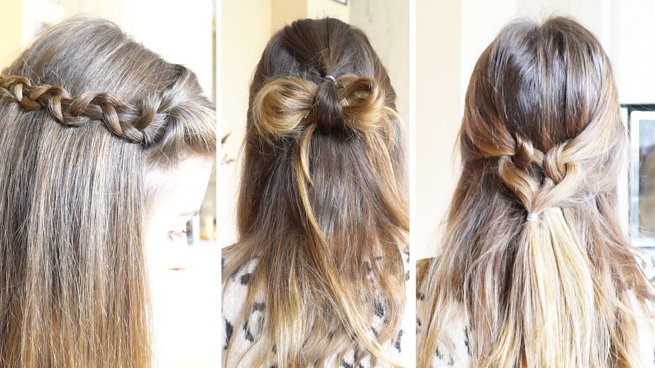 Halboffene Frisuren  3 TOLLE halboffene Frisuren in 5 MINUTEN