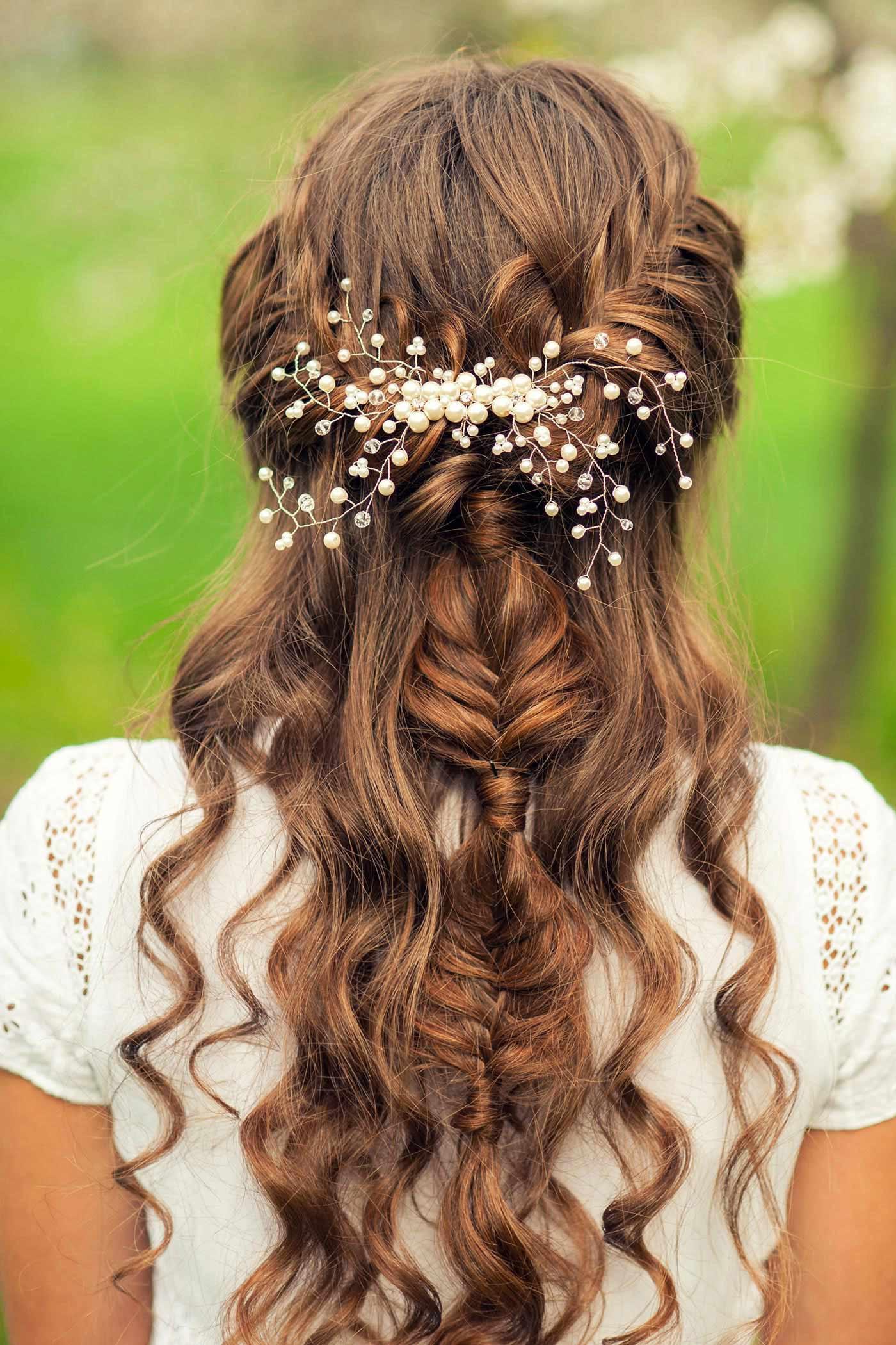 Halboffene Frisuren Festlich  Brautfrisuren geflochten